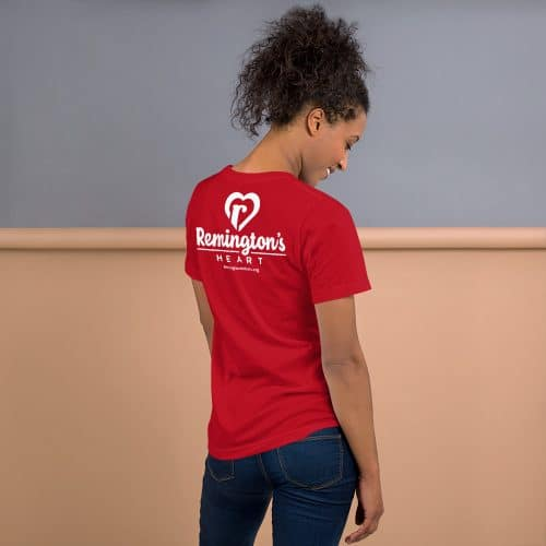 unisex premium t shirt red back 6015f1fe79021
