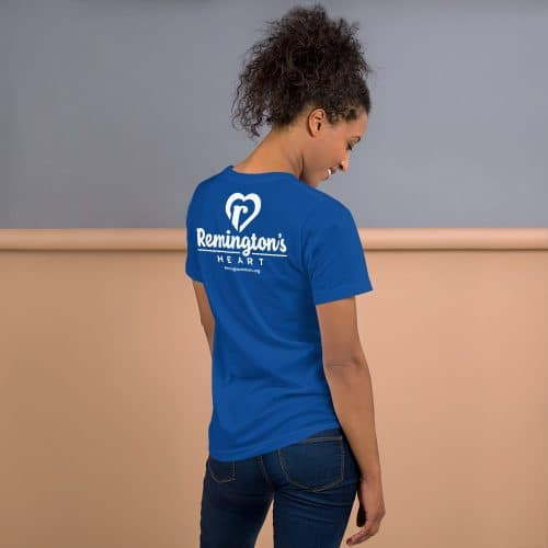 unisex premium t shirt true royal back 6015f1fe79876