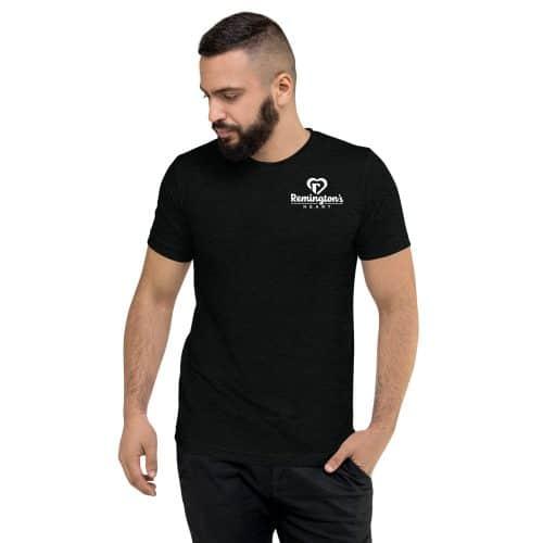 unisex tri blend t shirt solid black triblend front 6015ed45241aa